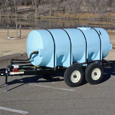 Black Mobile Water Trailer
