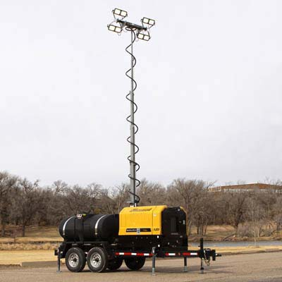 Combo trailer light tower